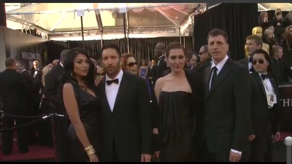 Mariqueen and Trent Reznor, Claudia Sarne and Atticus Ross arrive on the Academy Awards Red Carpet.